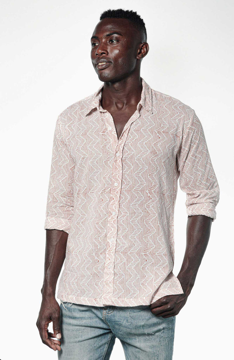 Camisa BLOCK Zig Zag Red - Cloud9 Ibiza