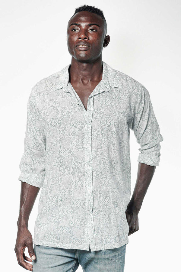 Camisa BLOCK Jaipur Blue - Cloud9 Ibiza