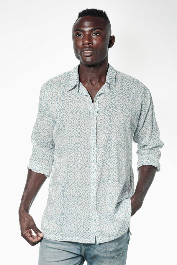 Camisa BLOCK Granada Blue - Cloud9 Ibiza