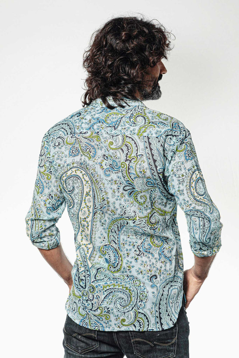 Camisa Hombre Psychedelic Sky Blue