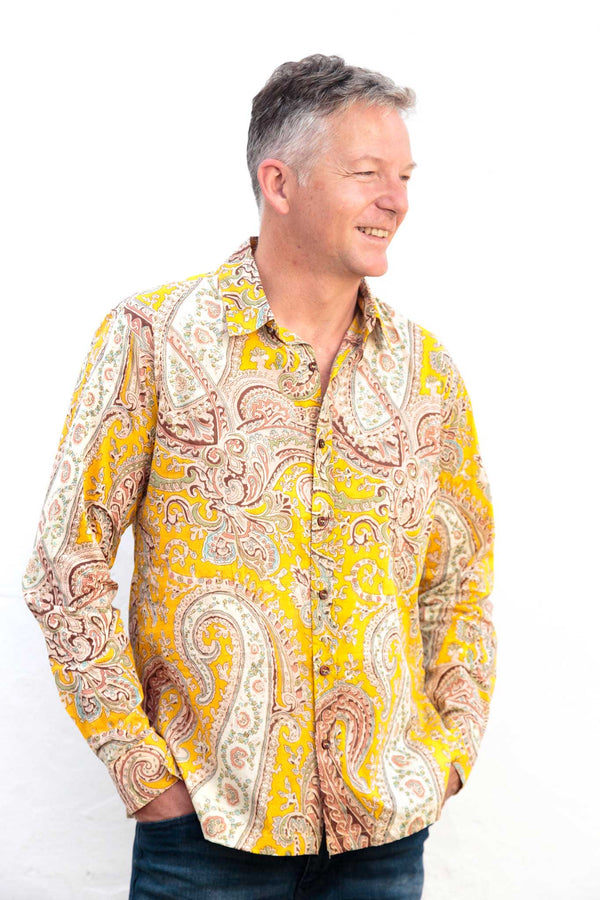 Camisa Hombre Psychedelic Yellow