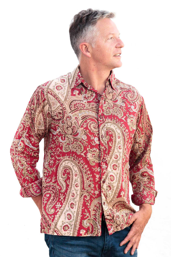 Camisa Hombre Psychedelic Red