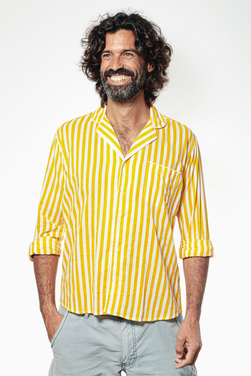 Camisa GIANNI Yellow Stripes