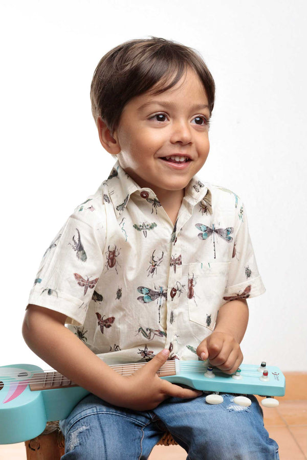 Camisa Niño Manga Corta Insects