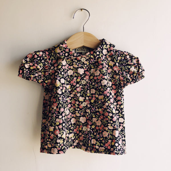 The Frilly Shirt Black Floral
