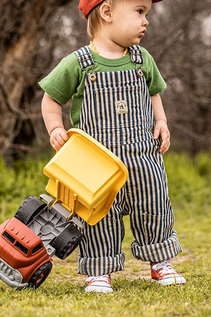 The Knee Patch Overalls Conductor Stripe - PRE-ORDER