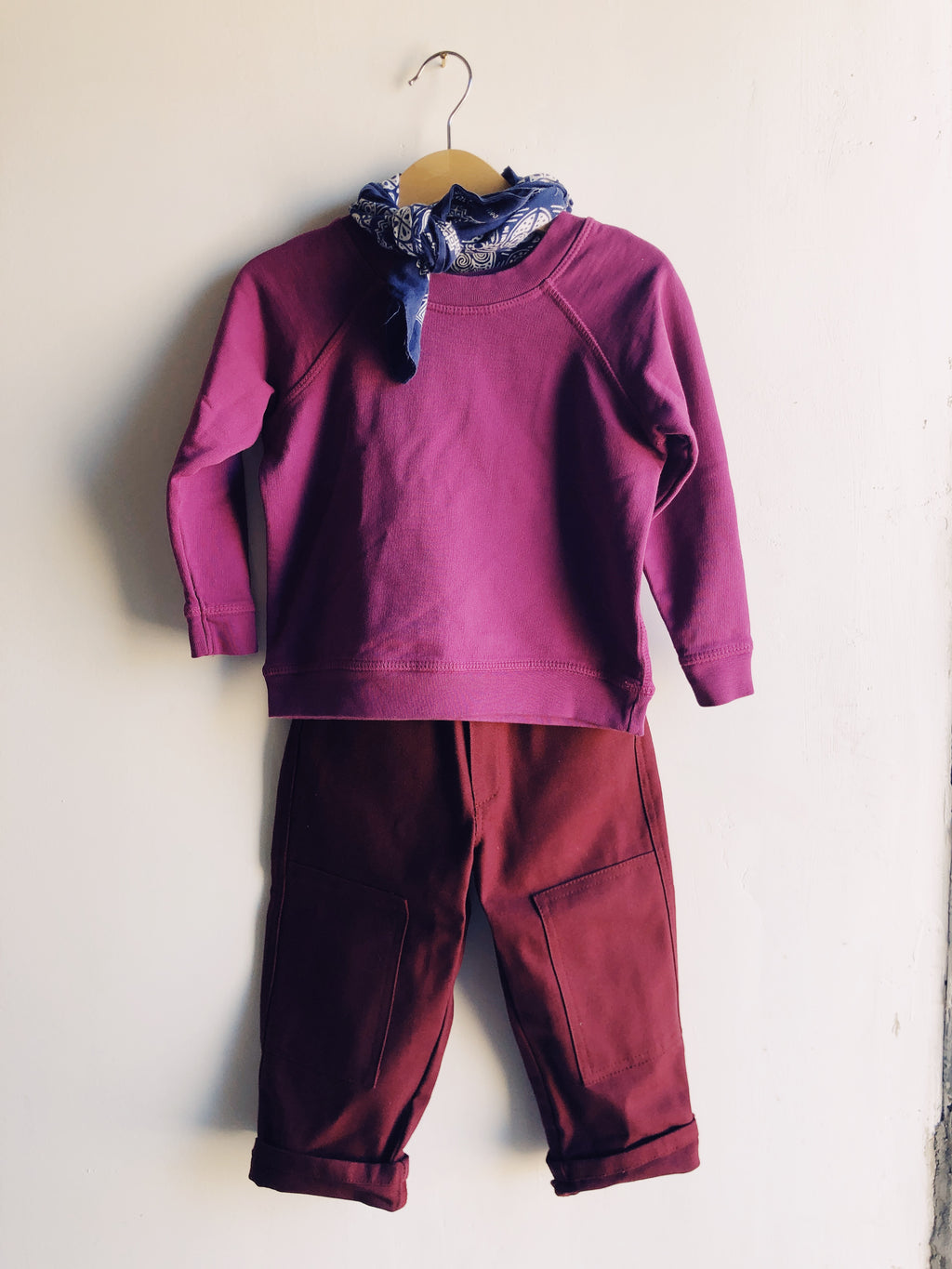 The Knee Patch Pant Plum