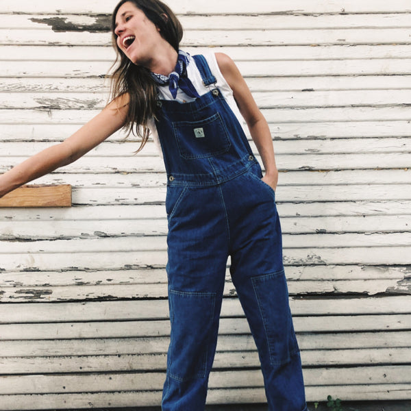 The Women's Knee Patch Overalls Denim