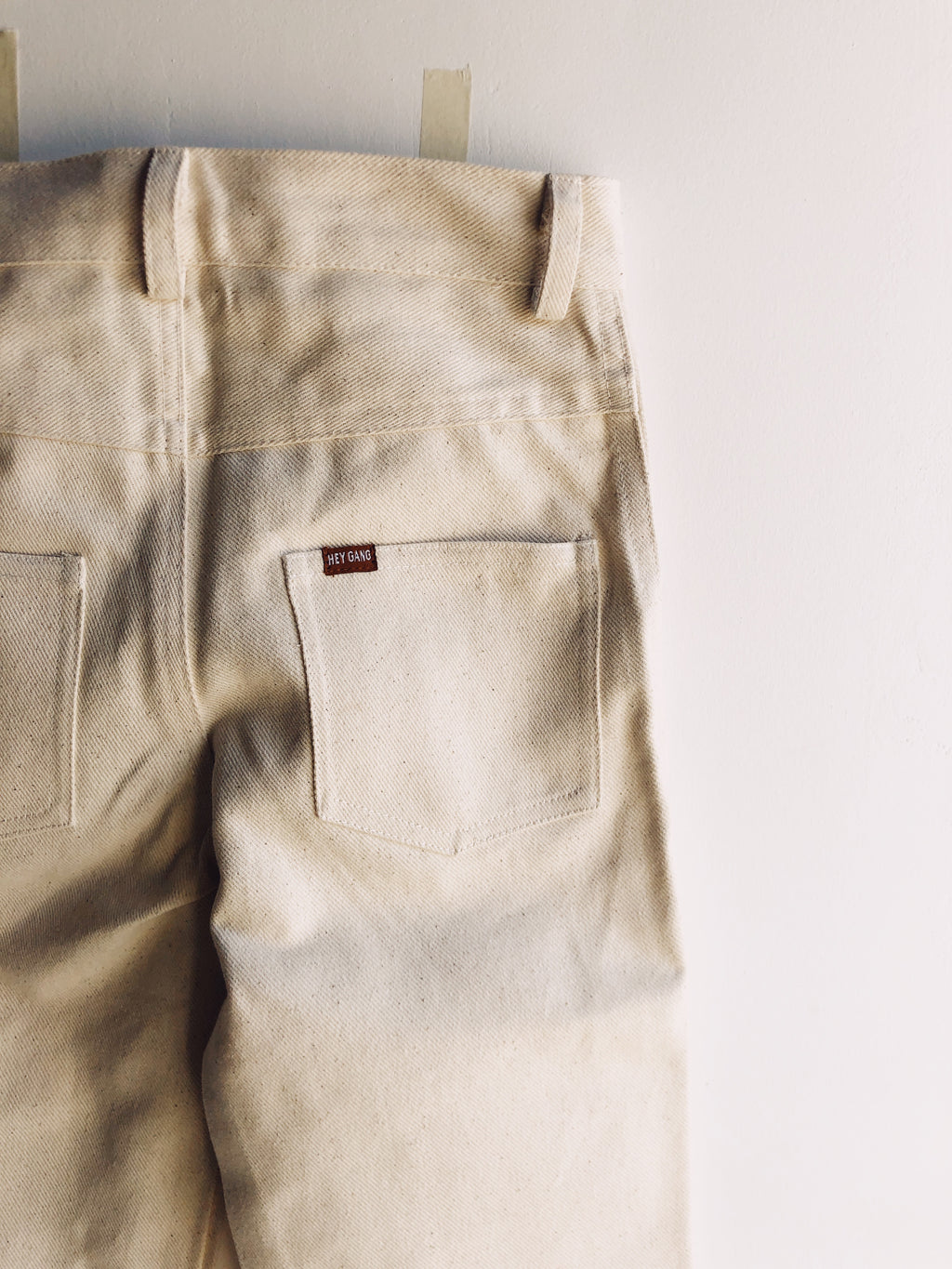 KNEE PATCH JEANS NATURAL
