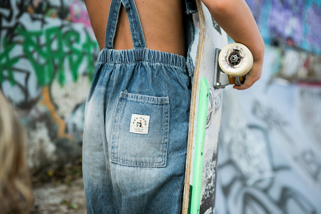 The Washed Denim Overalls