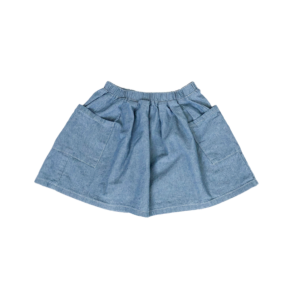 Two Pocket Skirt Chambray