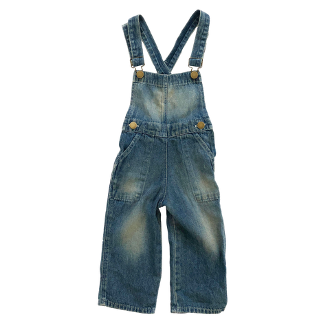 Overalls Washed Denim