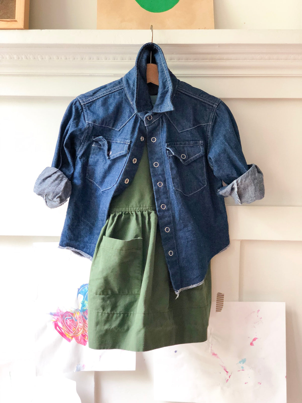 Japanese Denim Western Shirt