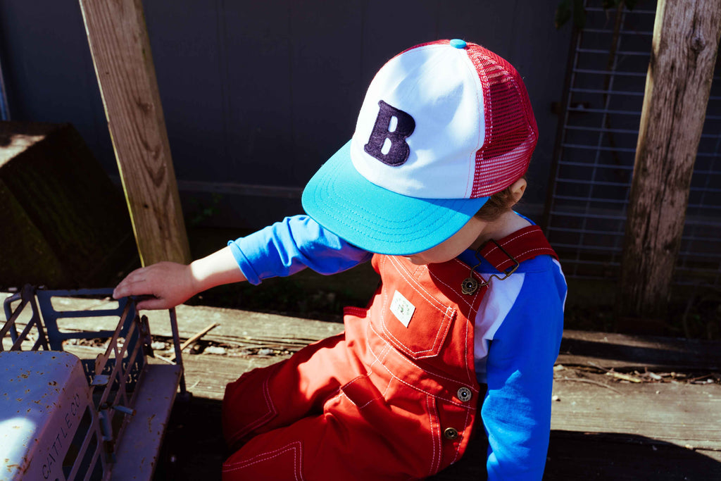 The Trucker Hat Red + Turquoise