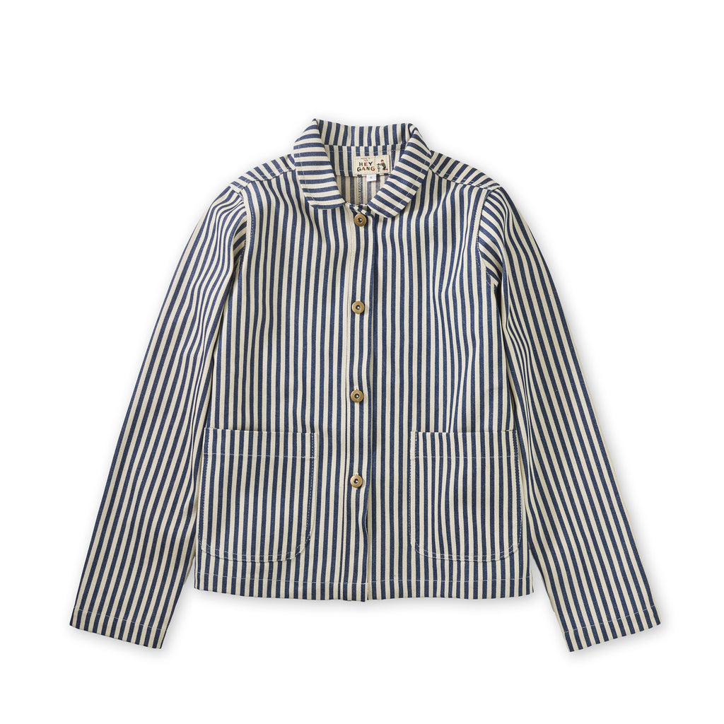 Women's Chore Coat Conductor Stripe Denim