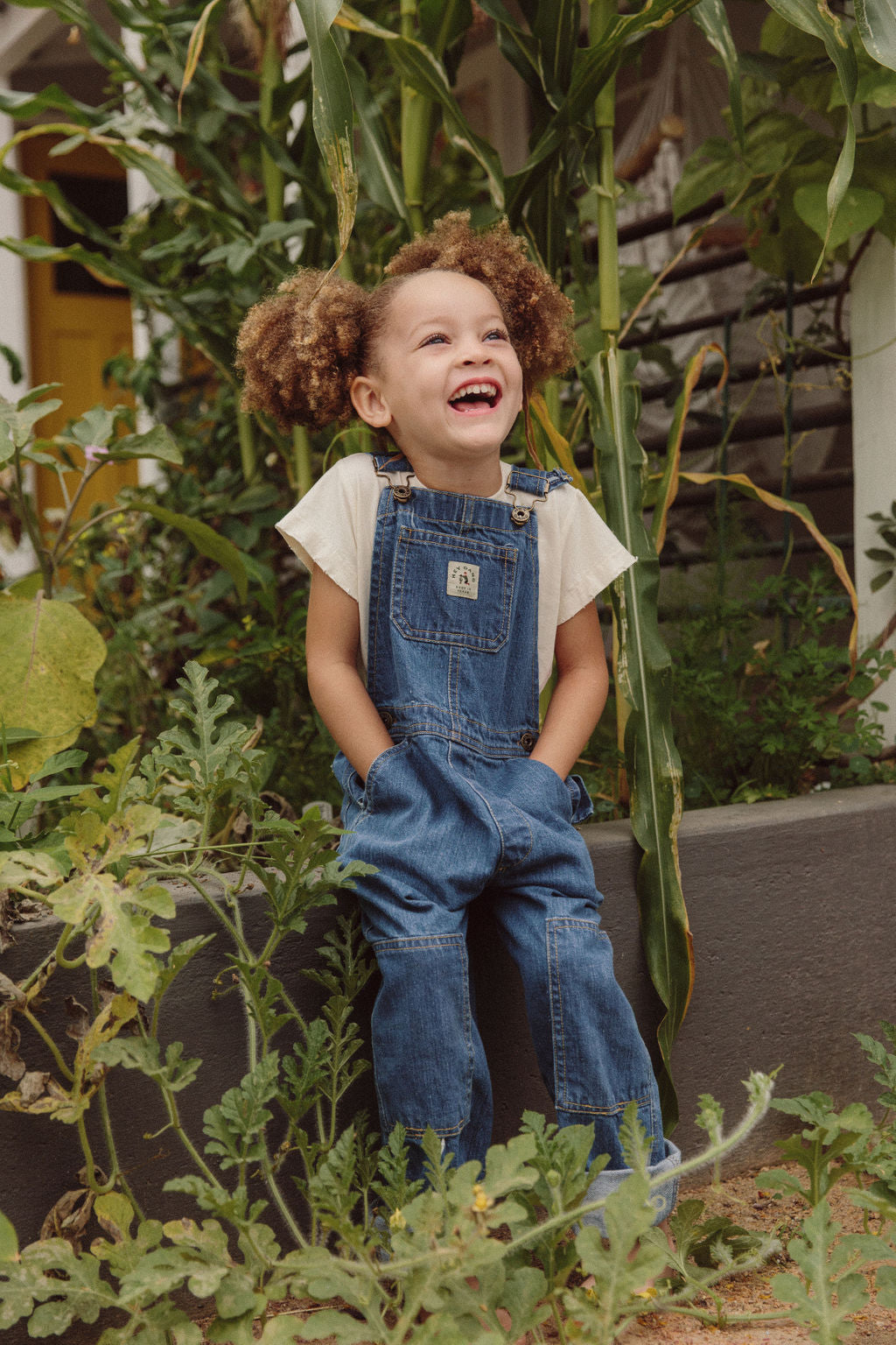The Knee Patch Overalls Denim