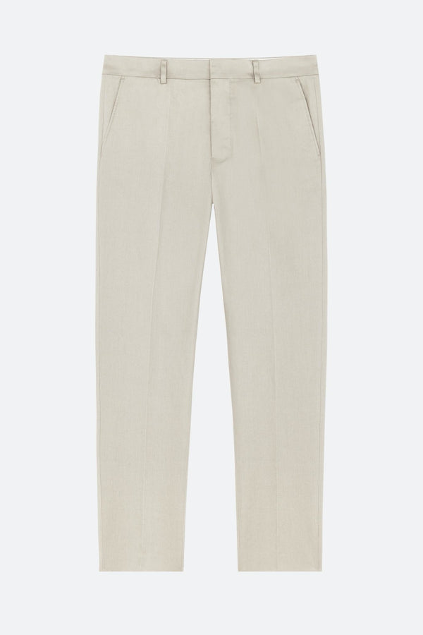 Cigarette Fit Trousers Beige