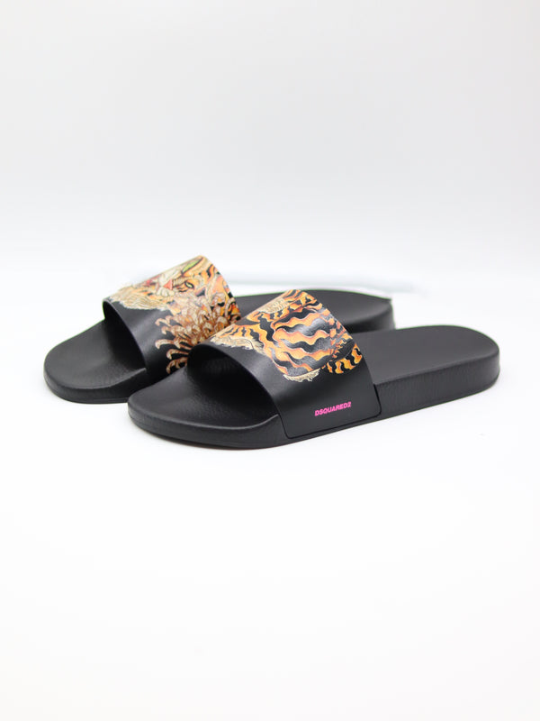Slipper schwarz multicolor