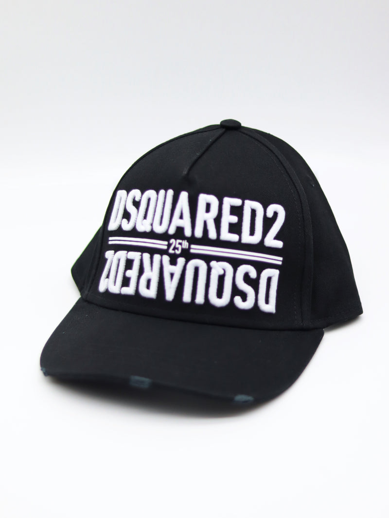 25th Dsquared2 Baseball Cap schwarz