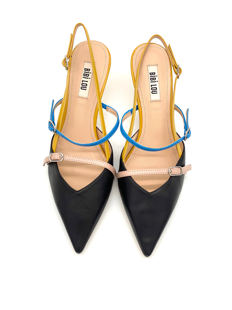 Slingpumps Black&Yellow