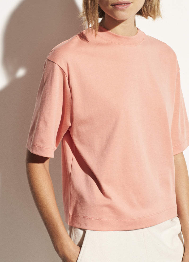 Wide Crop T-Shirt Coral