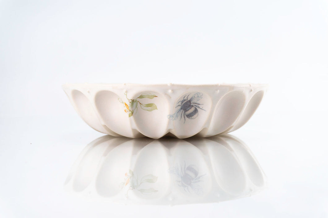 Flower Wave Bowl (b-123)