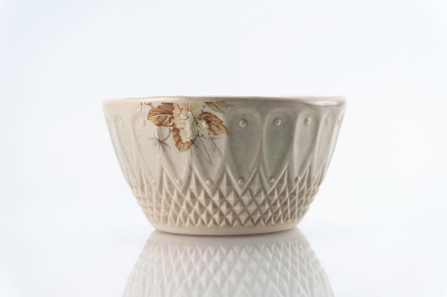 Brown Flower Gray Pattern Cup (c-221)