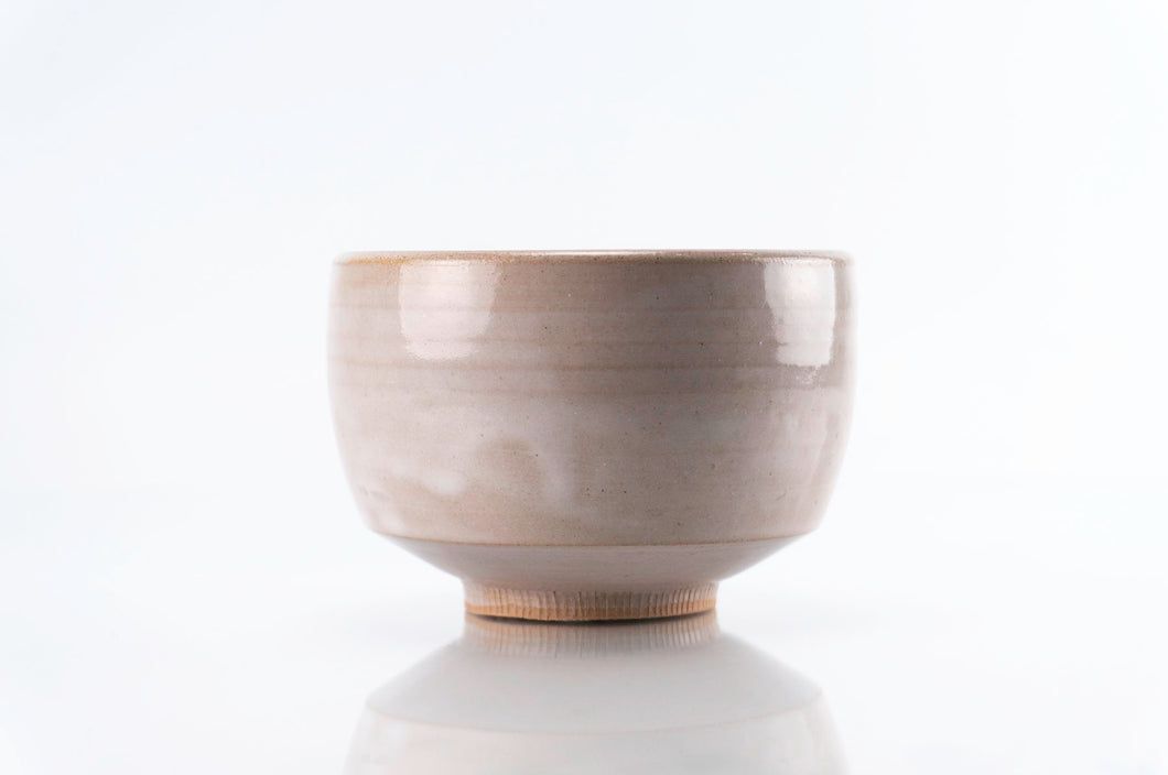 Brown Stoneware White Glaze Cup (c-224)