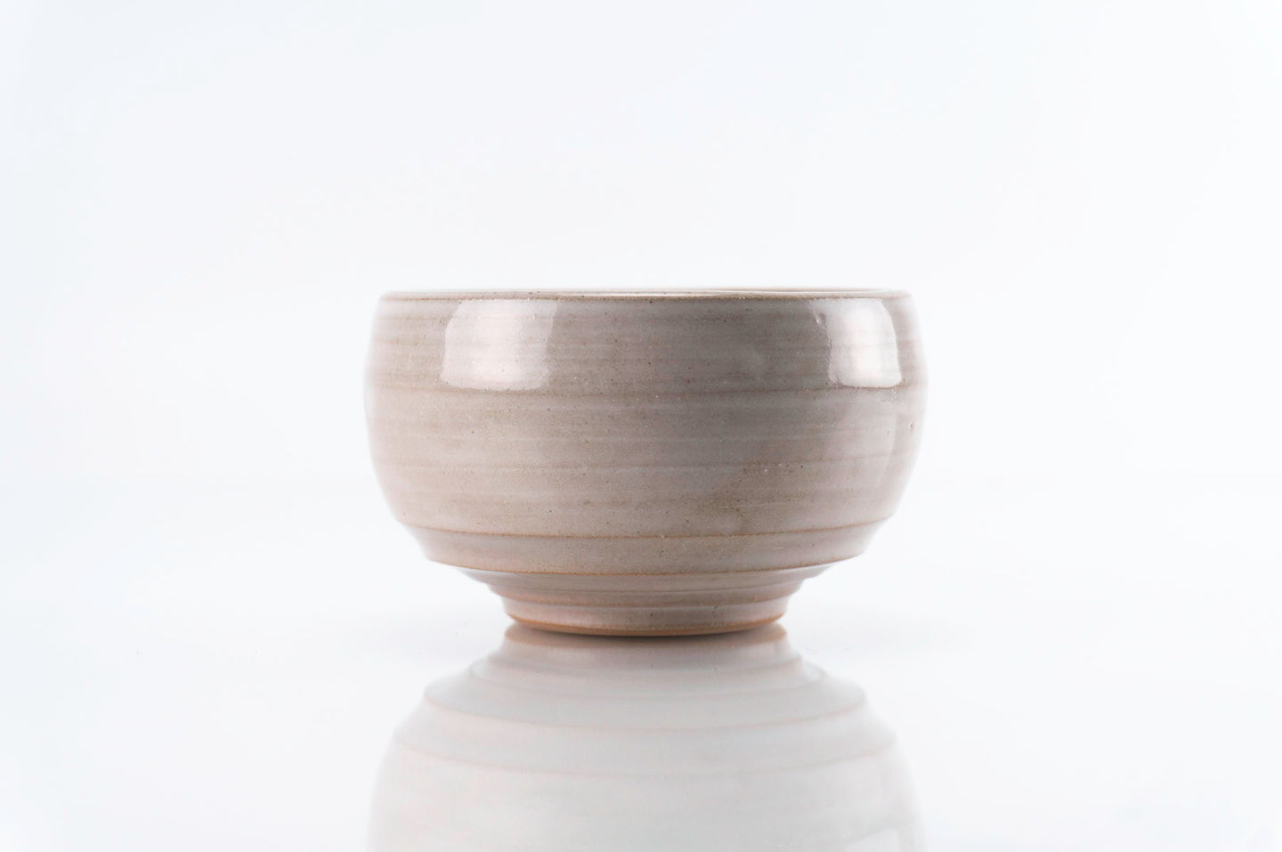 Brown Stoneware White Glaze Cup (c-225)