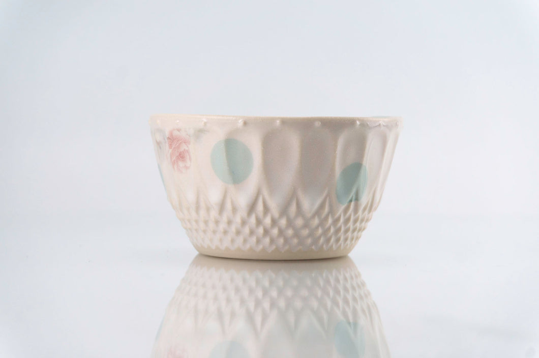 Teal Dot Pattern Cup (c-226)
