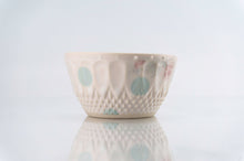 Load image into Gallery viewer, Teal Dot Pattern Cup (c-226)