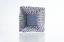 Load image into Gallery viewer, Blue Dimpled Square Dish (d-120)