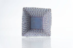 Blue Dimpled Square Dish (d-120)