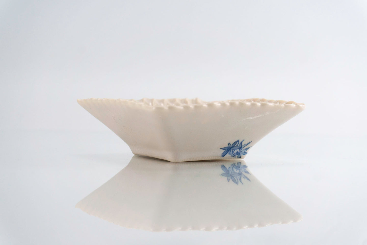 Blue Flower Square Dish (d-125)