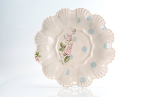 Flower and Blue Dot Medium Plate (p-273)