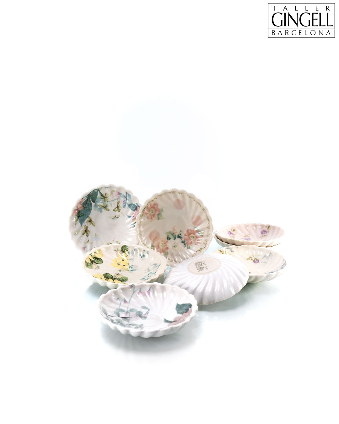 Set of Small Round Dishes