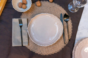 Modern Dimpled Plate | Dinner Plate | Large Plate