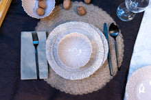 Load image into Gallery viewer, Modern Dimpled 3-Piece Place Setting | Ridged Bowl | Table Setting
