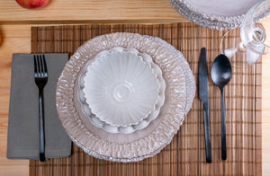 Modern Dimpled 4-Piece Place Setting | Table Setting