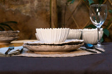 Load image into Gallery viewer, Textured Rim 3-Piece Place Setting | Ridged Bowl | Table Setting