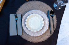 Load image into Gallery viewer, Textured Rim 3-Piece Place Setting | Wave Bowl | Table Setting