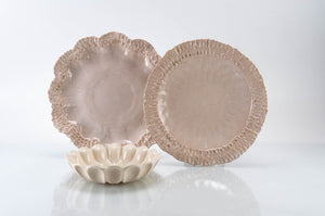 Wave Rim 3-Piece Place Setting | Wave Bowl | Table Setting