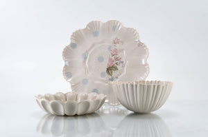 Dot and Flower Plate 3-Piece Place Setting | Table Setting