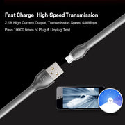 Laser Series Micro-USB Cable with LED indicator  RC-035m -- Charging & Data Cable - Remax online