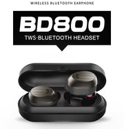 Double Ear Wireless bluetooth Earphone with Charging & Storage Box BD800 - Remax online