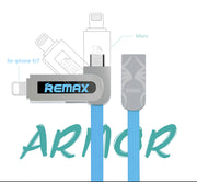 Armor Series 2 in 1 Micro/ Lightning  Data Cable RC-067t - Remax online