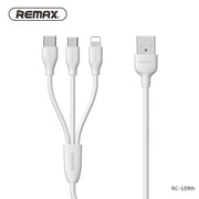 Suda 3 in 1 ( Apple/Micro/Type C ) Cable RC-109th - Remax online