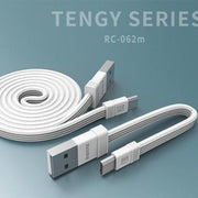Tengy Series 2 Pack Lightning Data Cable (1M & 16cm) RC-062m -- Charging & Data Cable - Remax online