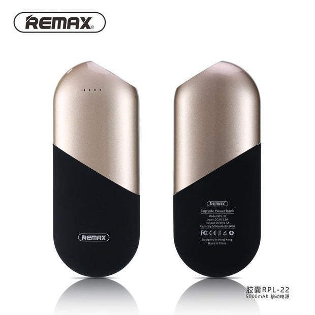 Capsule Power Bank 5000mAh RPP-22 - Remax online
