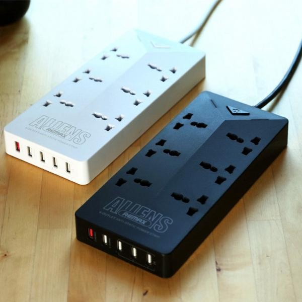 Extension Cord Alien 6 Port 5 Usb Charger Ru S4 Remax Online